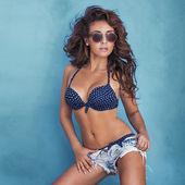 Sensual brunette woman posing — Stock Photo