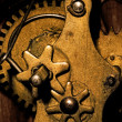Gears Inside an Old Grandfather Clock — Stock Photo #19043149