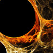 Orange-yellow plasma — Stock Photo