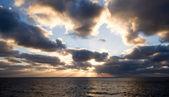 Sunset on open seas — Stock Photo