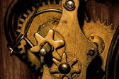 Gears Inside an Old Grandfather Clock — Stock Photo