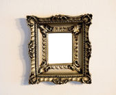 Blank Ornate Picture Frame on Wall — Stock Photo