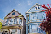 Victorian Homes in San Francisco — Stock Photo