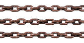 Rusty chain isolated on white — Stock Photo
