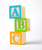 Wooden alphabet blocks — Stock Photo