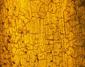Yellow brown crackled texture background — Stock Photo