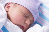 Newborn baby boy in hospital — Stock Photo