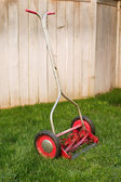 Old reel lawnmower — Stock Photo