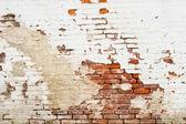 Vecchio muro di mattoni esposti all'aria — Foto Stock