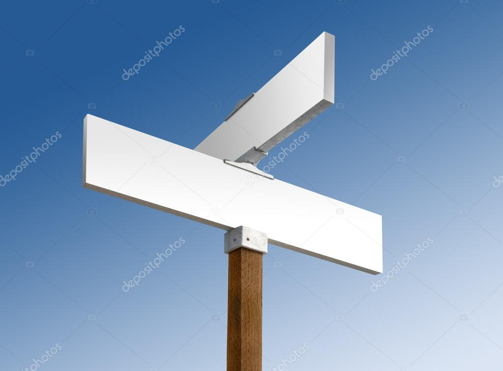 Blank green street sign ready for custom text — Stock Photo #19043193