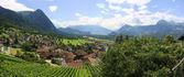 Lichtenstein beautiful panorama — Stock Photo