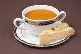 Bowl of mushroom soup — Stock Photo
