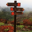 Guidepost on peak — Stock Photo #31202909