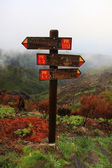 Guidepost on the peak — 图库照片