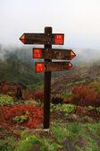Guidepost on the peak — Stock Photo
