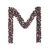 Letter M made of pepper — Stock Photo