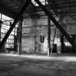 Old abandoned factory hall — Stock Photo