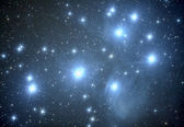 Pleiades M45 nebula — Stock Photo