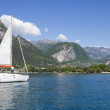 Sailing at Garda Lake - Stock Photo