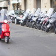 Motorcycle in Florence — Stock Photo