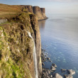 Kilt Rock Waterfall - Stock Photo