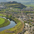 View of Stirling from the Wallace Monument - Stock Photo