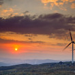 Wind Turbines at Sunset - Lizenzfreies Foto