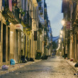 Bairro Alto after the night parties — Stock Photo