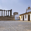 Roman Temple of Evora - Stock Photo