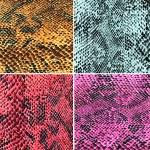 ������, ������: Set of colorful snake skin