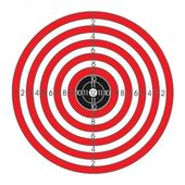 Red and white shooting target — Stock Photo