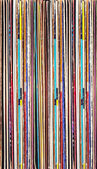 Colorful background of vinyl records — Stock Photo