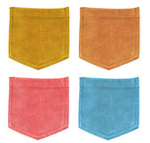 Conjunto de bolsos de textura de veludo colorido — Foto Stock