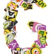 Collage made of newspaper clippings of letters — Stock Photo #34001319