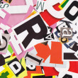Collage made of newspaper clippings of letters — Stock Photo #34006087