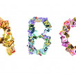 Collage made of newspaper clippings of letters — Stock Photo #34010941