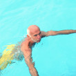 Stock Photo: Senior man having a swim