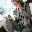 Woman having a mobile phone conversation — Stock Photo