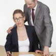 Sexual harassment in the office — Stock Photo