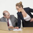 Stockfoto: Businessmogling cleavage of his coworker