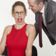 Stock Photo: Sexy affair in office