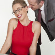 Flirting in the office — Stock Photo