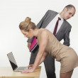 Stock Photo: Sexual harassment by boss