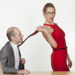 Stock Photo: Seduction at office