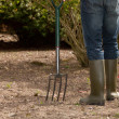 Stock Photo: Mworking in garden carrying fork