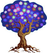 árbol de floración — Vector de stock