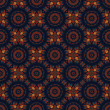 Batik pattern and computer processing - Stock Photo