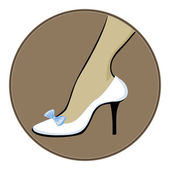 White shoes with blue bow — Stock Vector