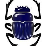 Beetle scarab — Stock Vector #40487947