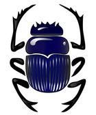 Beetle scarab — Stock Vector
